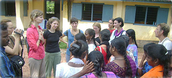 International Volunteers at BGM Kerala